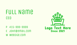 Green Chair Bench Business Card