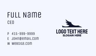 Flying Crow Raven Business Card