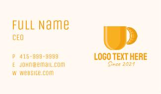 Coffee Mug Croissant  Business Card