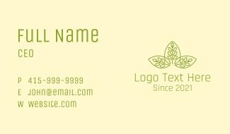 Symmetrical Leaf Pattern Business Card