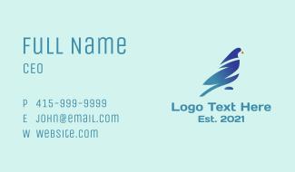 Corporate Gradient Bird  Business Card