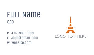 Orange Tower Price Tag Business Card