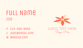 Hibiscus Flower Spa Business Card