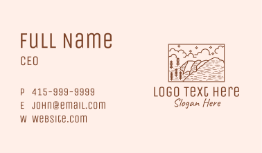 Outdoor Wilderness Landscape Business Card
