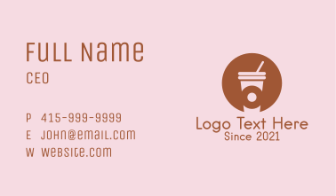 Donut Coffee Shop  Business Card
