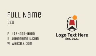 Arabian Desert Camel Mustache Business Card