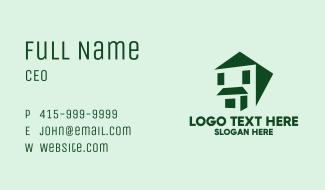 Green House Facade Business Card