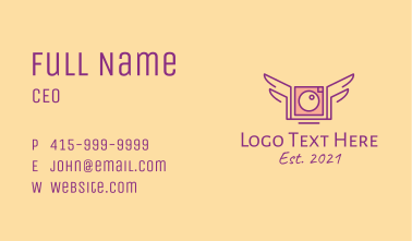 Winged Camera Business Card
