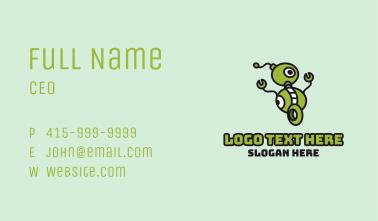 Green Robot Wheels Business Card
