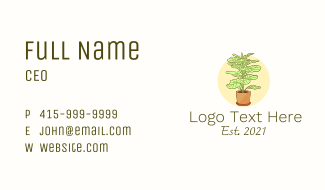 Indoor Plant Decoration Business Card