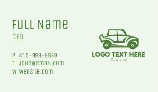 Green Automotive Vehicle Car Business Card