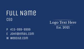 Corporate Business Wordmark Business Card