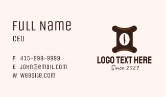 Gemini Coffee Shop  Business Card