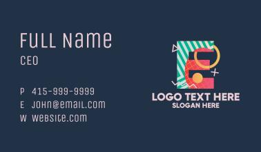 Pop Art Letter E Business Card