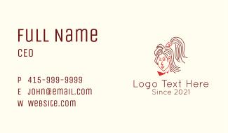 Woman Hairstylist Salon Business Card