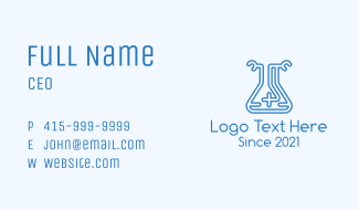 Cross Flask Outline Business Card