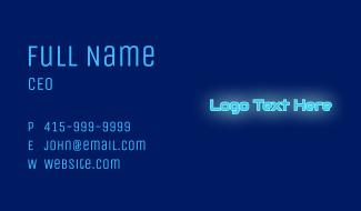 Neon Tech Wordmark Business Card