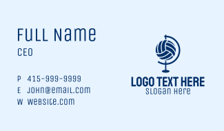 Volleyball Globe Business Card