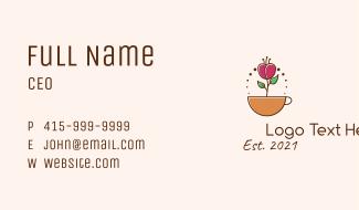 Coffee Plant Mug  Business Card