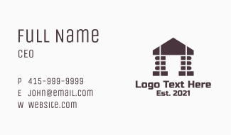 Library Building Business Card