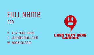 Emoji Speech Bubble Business Card