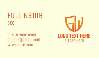 Orange Shield GW Business Card
