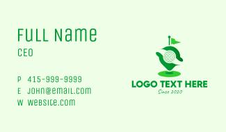 Green Golf Locator Business Card