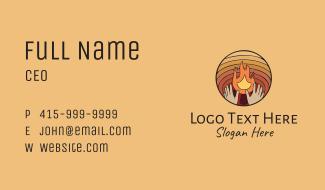 Campfire Hands Business Card