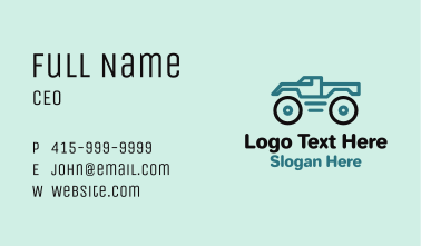 Toy Monster Truck  Business Card