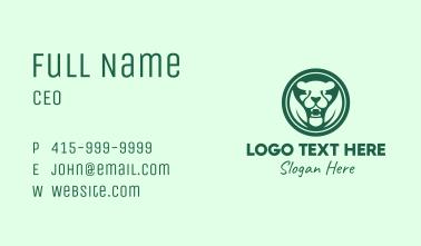 Green Nature Jaguar Badge Business Card