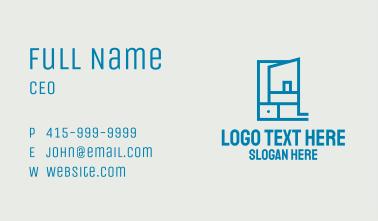 Blue Shelf Storage Business Card