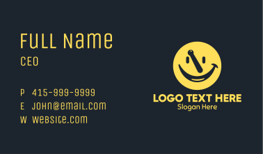 Yellow Mortar Smiley Business Card