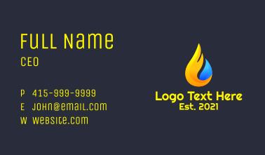 Flaming Water Drop Business Card