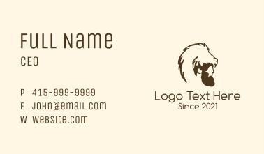 Wild Animal Headdress Business Card
