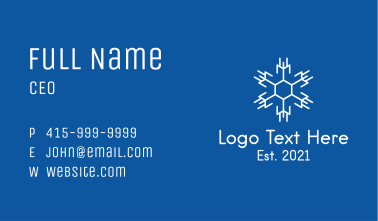 White Winter Snowflake  Business Card