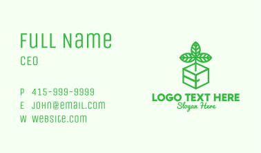 Green Plant Box Business Card