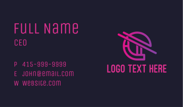 Cyber Network Letter E Business Card