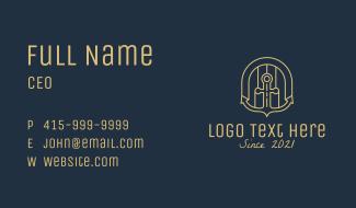 Nautical Anchor Door  Business Card