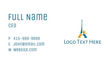 Blue & Gold Eiffel Tower Business Card