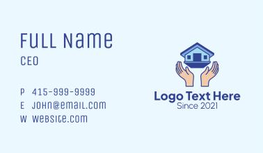Housing Construction Hands Business Card