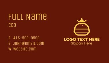 Yellow Royal Burger Business Card
