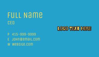 Doodle Style Wordmark Business Card