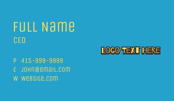 text logo - Doodle Style Wordmark Business card horizontal design