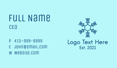 Winter Snowflake  Business Card