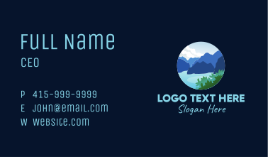 Island Rock Formation Business Card