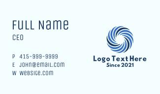 Blue Wind Turbine Business Card
