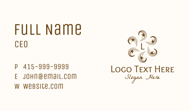 Wood Carving Decoration Letter Business Card