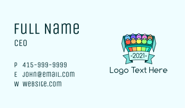Crayon Box Banner Business Card