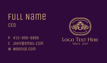 Intricate Medusa Insignia Business Card