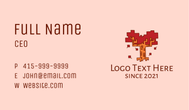 Geometric Autumn Tree  Business Card